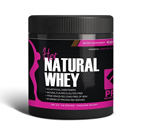 Protein Powder For Women – Her Natural Whey Protein Powder For Weight Loss & To Support Lean Muscle Mass – Low Carb – Gluten Free – rBGH Hormone Free – Naturally Sweetened with Stevia – Designed For Optimal Fat Loss (Chocolate Delight)- Net Wt. 1 LB