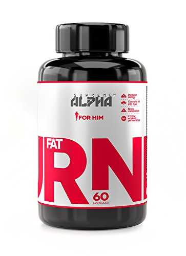 SUPREME ALPHA- FAT BURNER For Men, Weight Loss Supplement, Thermogenic Burner, Powerful Appetite Suppressant, Dietary Supplement, Boost Metabolism, Diet pills, Increases Energy & Focus-60 capsules