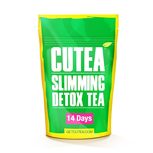 CUTEA Natural Weight Loss Detox Tea, 14 Tea Bags: Reduce Bloating, Promote Fat Loss, Control Appetite & Detoxify the Body- Antioxidant-Rich 100% Natural Tea