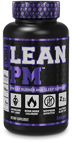LEAN PM Night Time Fat Burner, Sleep Aid Supplement, & Appetite Suppressant for Men and Women – 60 Stimulant-Free Veggie Weight Loss Pills