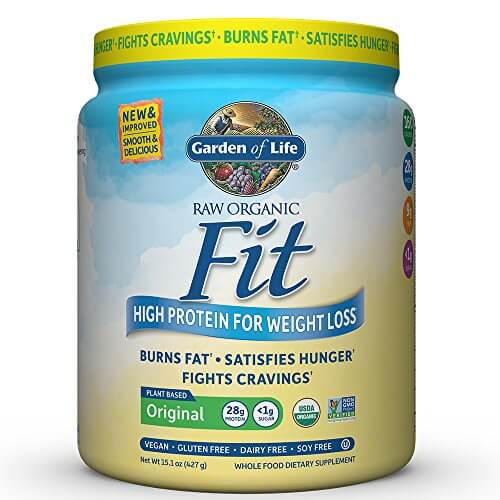 Garden of Life Organic Meal Replacement – Raw Organic Fit Vegan Nutritional Shake for Weight Loss, 15.1oz (427g) Powder