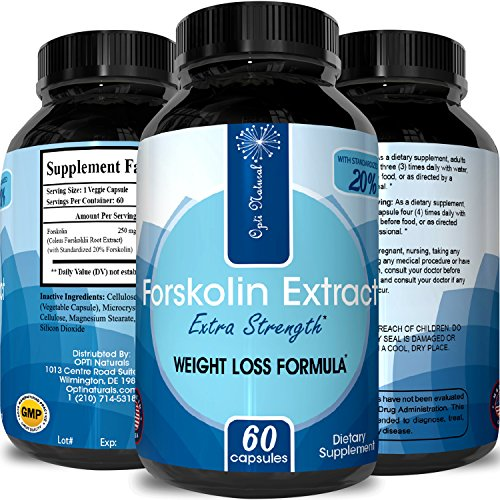 Forskolin For Weight Loss – Burn Belly Fat + Boost Metabolism – Safe & Effective – Dietary Supplement – For Men & For Women – High Quality